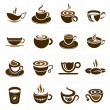 Coffee, tea and related drinks icon designs that can be used in every job.