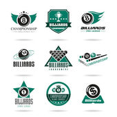 Billiards sports competitions on topics such as a set of icons that can be used