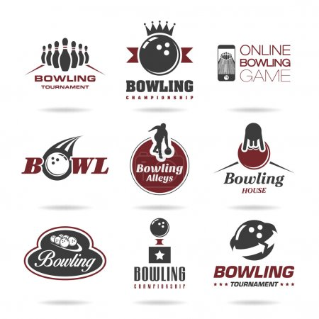 Bowling icon set
