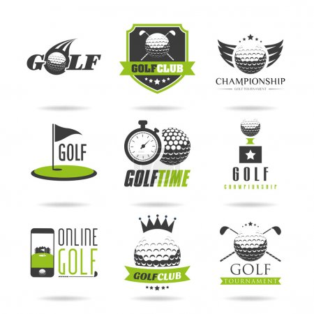 Golf icon set