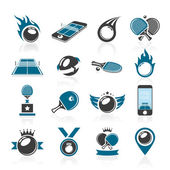Table tennis set quality icons that can be used in related work