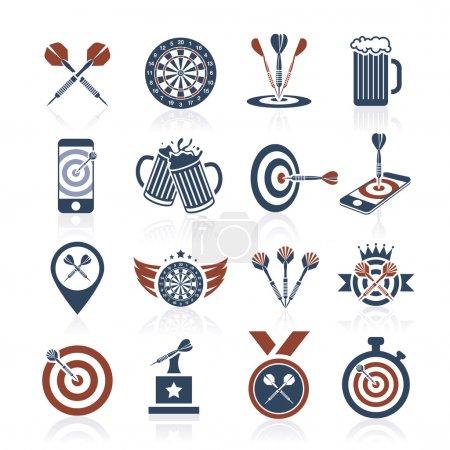 Darts icon set - 3