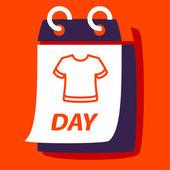 calendar with a  T-shirt