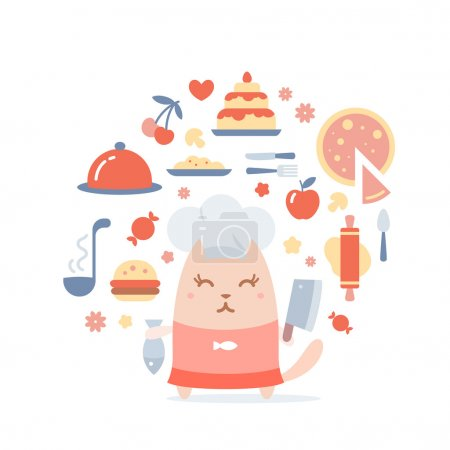 Character chef in a chef's hat