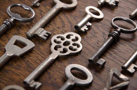 A set of old keys