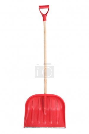 Snow shovel, isolated