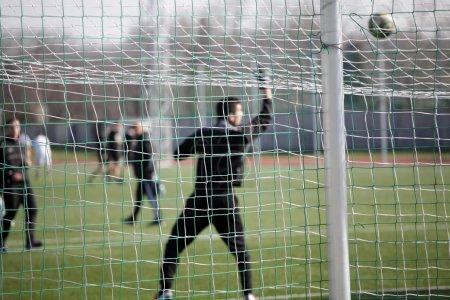 Football net during a football mach