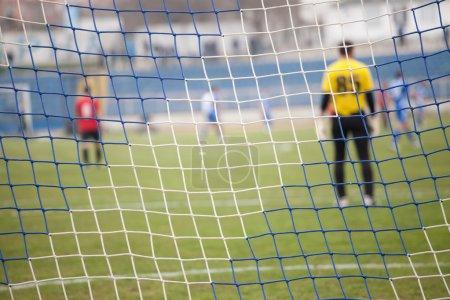 Net, soccer goal during a football mach