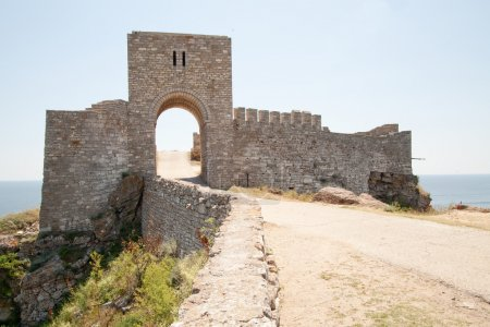 The gate of the medieval fortress on cape Kaliakra, Bulgaria.