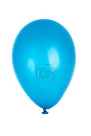 Photo pour Ballon bleu isolé sur blanc - image libre de droit