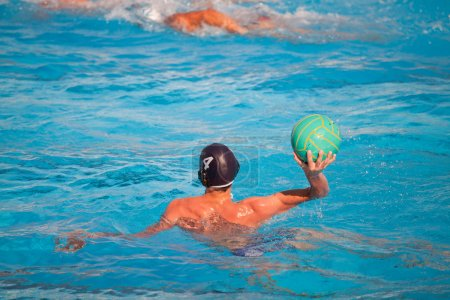 water polo player in action