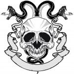 Постер, плакат: Skull and snakes