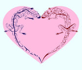 Lizards twisted heart