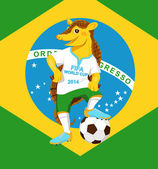 Armadillo FIFA World Cup mascot Smiling funny armadillo wearing a football uniform