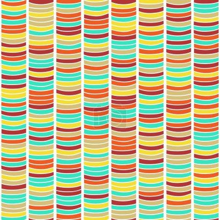 Illustration pour Contexte simple basé sur l'ornement africain traditionnel. Texture stylisée avec vagues. Modèle africain de couleur vive pour la décoration ou le fond . - image libre de droit