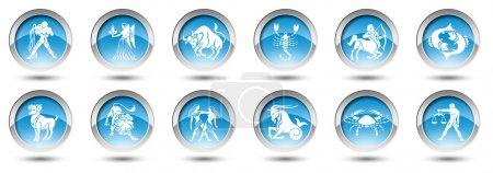 Photo pour Boutons avec signes du zodiaque pour le web - image libre de droit