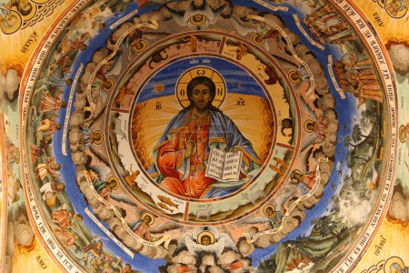 Icon in bulgarian Rila monastery,built in year 1844