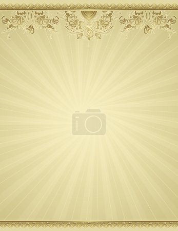 Illustration for Yellow antique background, vector illustration - Royalty Free Image