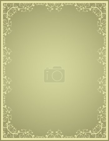 Green vector certificate background