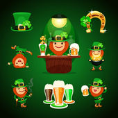 StPatrick's Day's set with horseshoe
