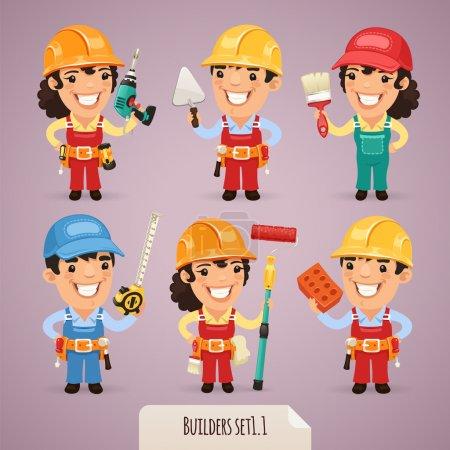 Builders Cartoon Characters Set1.1