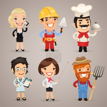 Photo for Professions Cartoon Characters Set1.2 In the EPS file, each element is grouped separately. Clipping paths included in additional jpg format. - Royalty Free Image