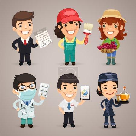 Photo pour Professions Cartoon Characters Set1.4 Dans le fichier EPS, chaque élément est regroupé séparément. Couper les chemins inclus dans le format jpg supplémentaire . - image libre de droit
