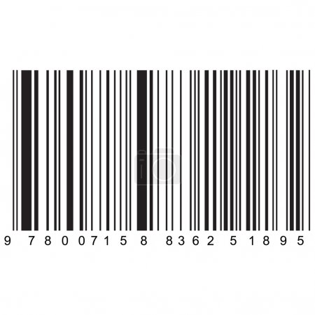 Realistic barcode vector