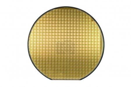 Foto de Oblea de brillante oro. contiene el trazado de recorte. - Imagen libre de derechos