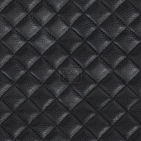 Black leather seamless background