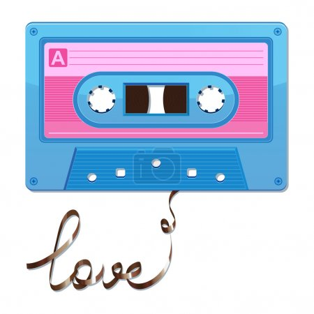 Audio cassette tape. Film written love