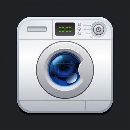 Washing machine. Laundry icon