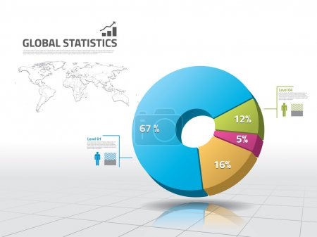 Illustration for Pie chart: business statistics - Royalty Free Image