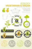 Vegan and vegetarian vector set