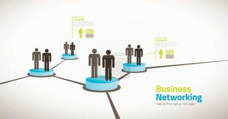 Illustration pour Illustration vectorielle des gens de réseautage - image libre de droit