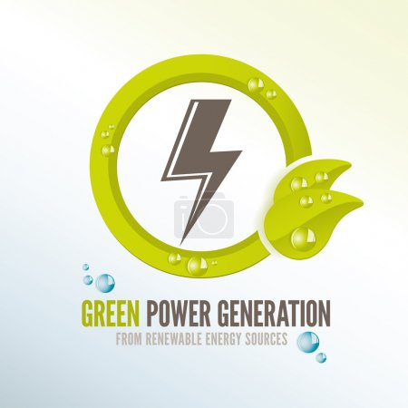 Green power generation badge for electricity from ...