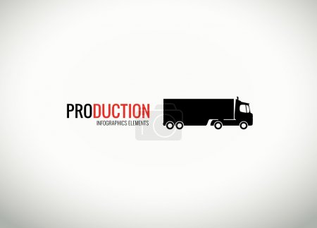 Vector truck silhouette for infographics