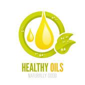 Healthy oils ecologic label design