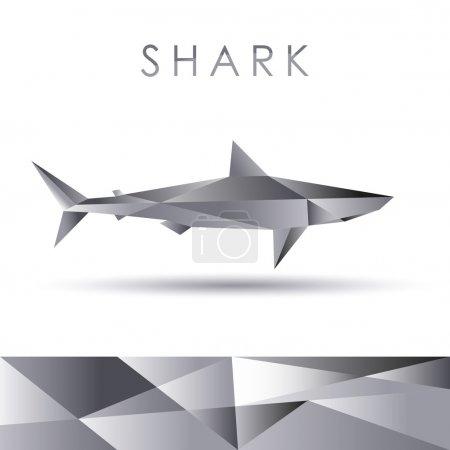 Shark abstract vector portrayal
