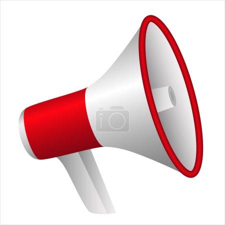 Portable plastic red megaphone - communicate loud ...