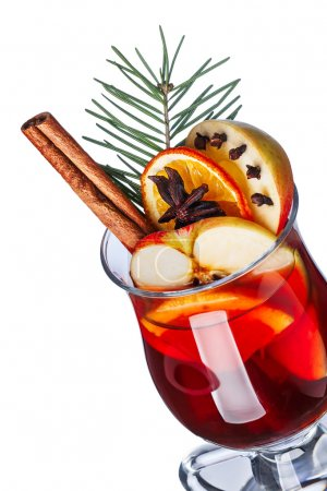Mulled wine with apples