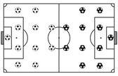 Soccer Stadium Field Black Vector Illustration
