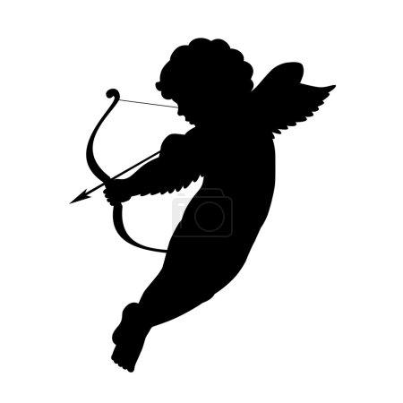 Cute cupid silhouette