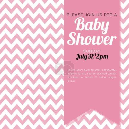 Chevron baby shower girl