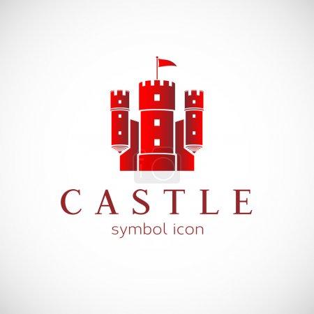 Abstract castle vector logo template
