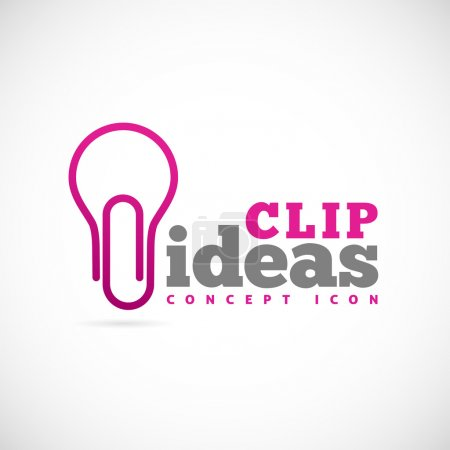 Illustration for Clip ideas concept symbol icon - Royalty Free Image