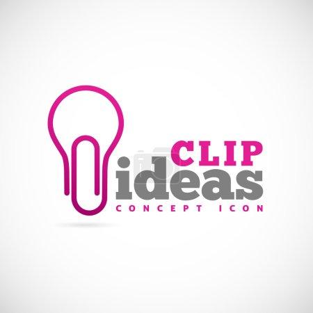Illustration pour Idées clip icône symbole concept - image libre de droit