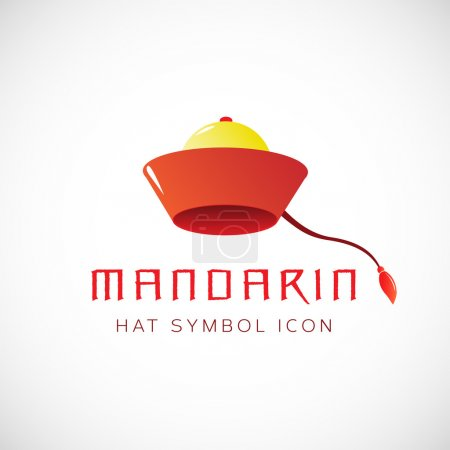 Mandarin hat symbol icon