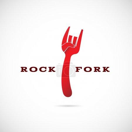 Rock fork symbol icon