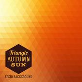 Autumn sun triangle vector background
